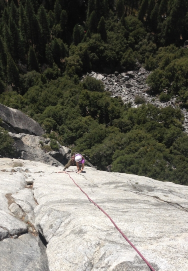 Following on Superslide (5.9) in the Royal Arches area