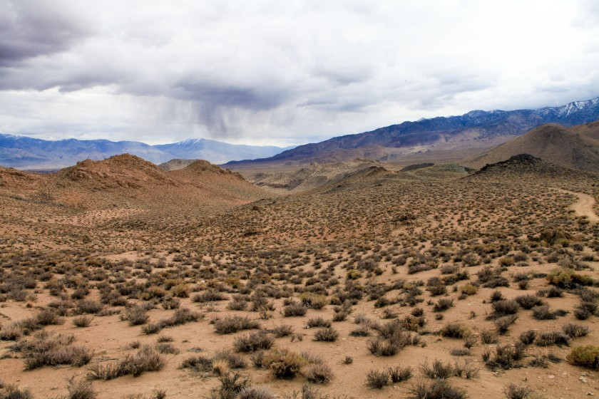 Exploring the Tungsten Hills on Friday, January 30, 2015 near Bishop, CA.