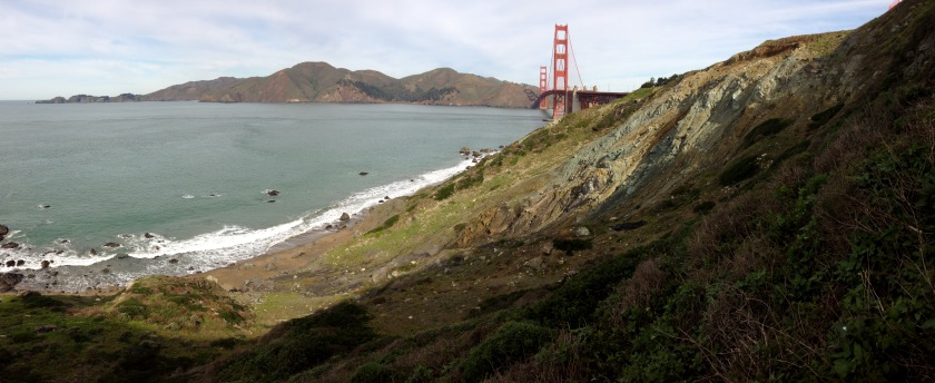 """One of my new """"offices"""" at the Presidio Bluffs"""