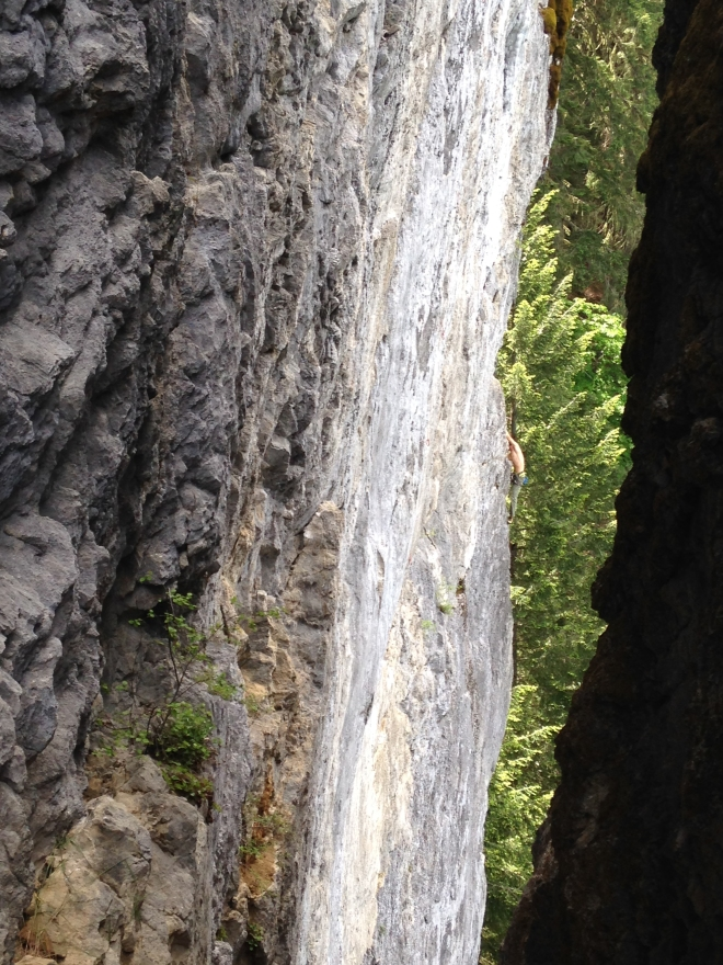 Unknown climber on