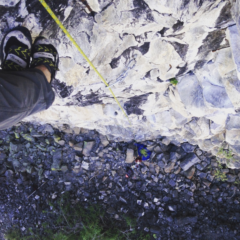 Although I do not excel at the type of climbing at the Columns, I surprised myself. During a second trip there, I was able to onsight two 12b's. It was rewarding to know that all of the plastic pulling and disciplined training I was doing back home in the city was paying off on real rock.