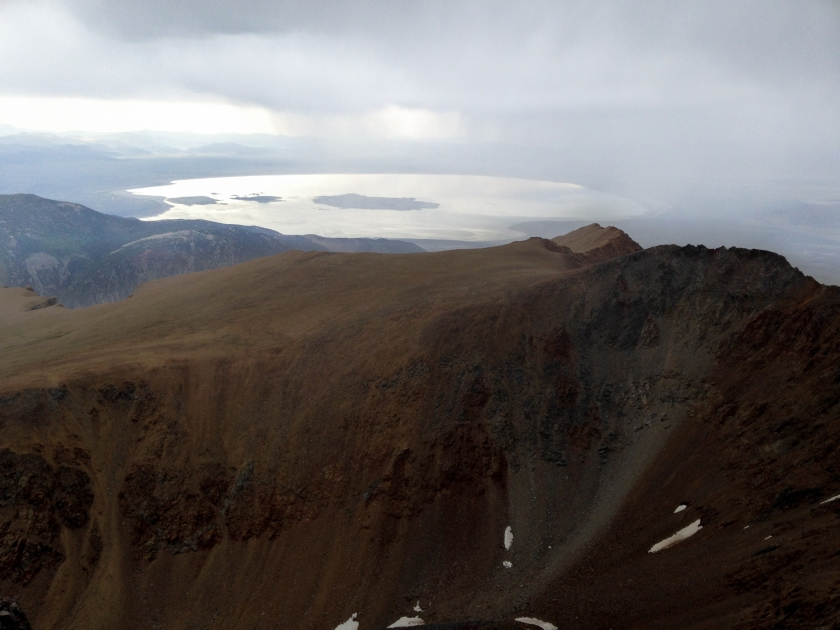 got to the summit just as the storm reached me. Snapped this quick photo and then peaced!