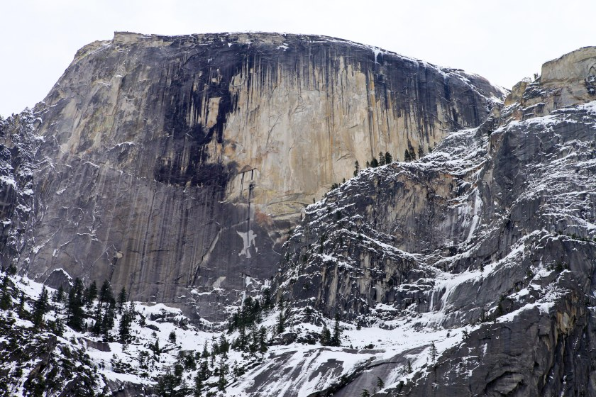 In Yosemite Valley with Denise on Sunday Jan 17, 2016.